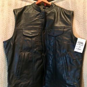 Other - Genuine Leather men's vest. Size 58, never worn.